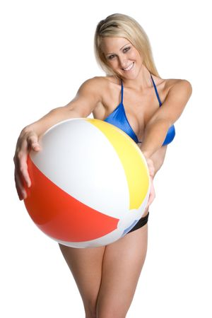 Beach Ball Bikini Woman photo