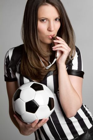 Sexy Soccer Referee Stock Photo - 6649613