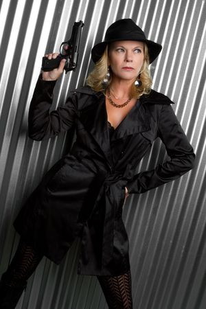 Sexy Detective Woman Stock Photo - 6649611