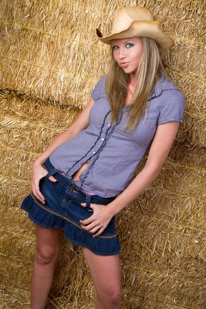 Pretty Country Girl Stock Photo - 6649617