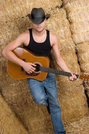 Country Guitar Man Stock Photo - 6649615