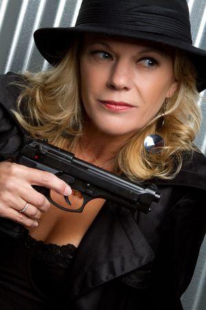 Gun Woman Stock Photo - 6674411