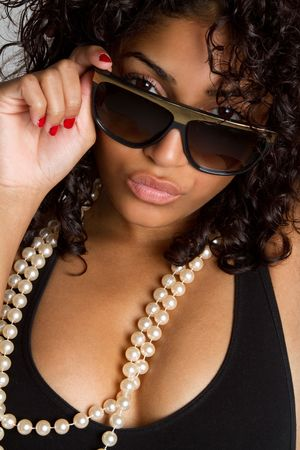 attitude girls: Woman Wearing Sunglasses