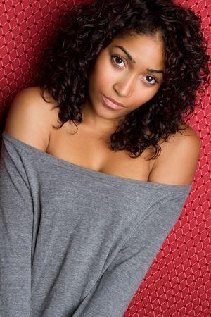 sexy sweater: African American Girl