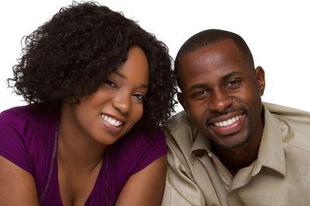 couple afro americain: Couple heureux