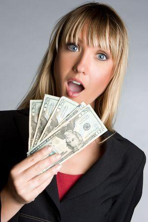Shocked Money Woman Stock Photo - 6674418