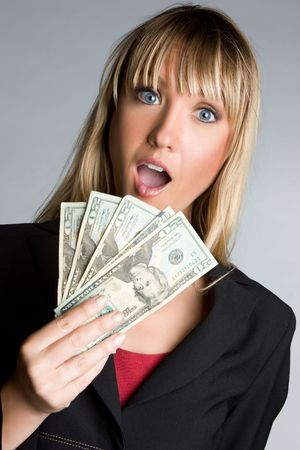 Shocked Money Woman Stock fotó - 6674418