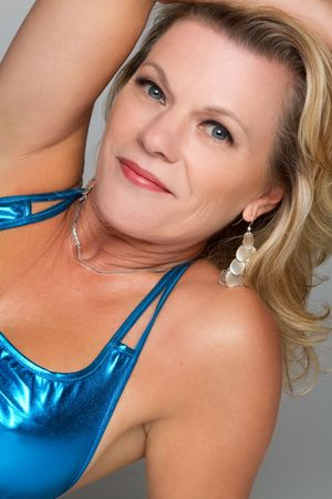 sexy middle aged woman: Happy Blond Woman