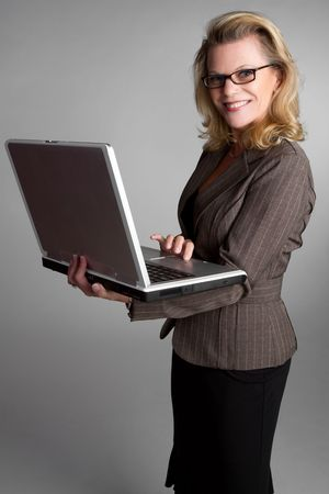 Laptop Businesswoman Stock Photo - 6674422