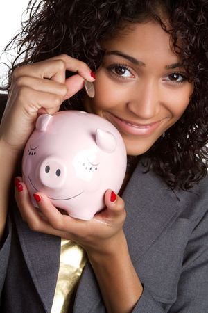 Piggy Bank Woman Stock Photo - 6689401