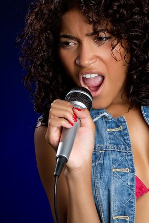 Black Girl Singing Stock Photo - 6689399