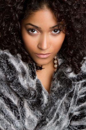 Woman Wearing Fur Stock Photo - 6689402
