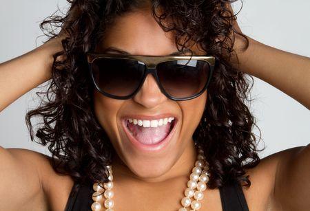 american curl: Playful Woman