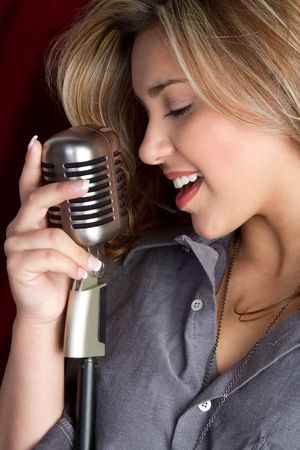 Singing Woman Stock Photo