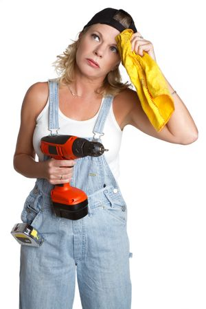 hard working woman: Handyman Woman
