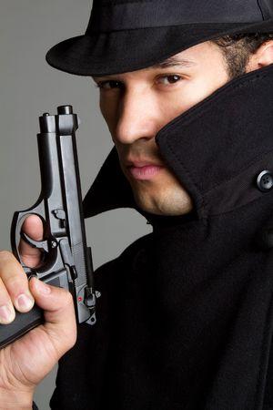 Sneaky Gun Man Stock Photo - 6736365