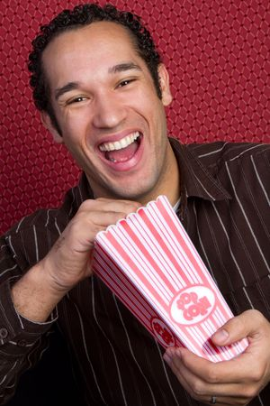 Laughing Popcorn Man photo