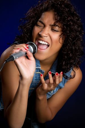 African American Singer Stock Photo - 6736371