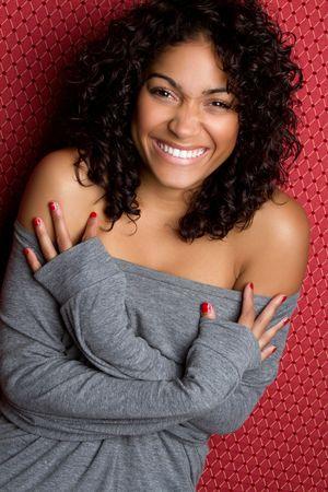Laughing Black Woman Stock Photo - 6736392