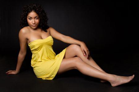 american curl: Beautiful Black Model