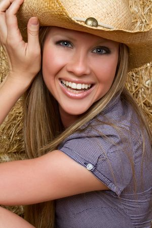 Blond Country Girl Imagens