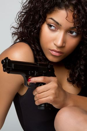 Sexy Gun Woman Stock Photo - 6736407