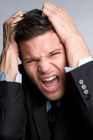 empresario enojado: Empresario enojado Foto de archivo