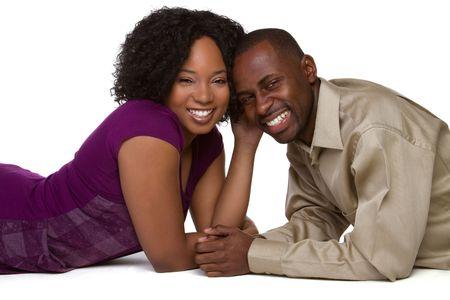 Happy Black Man and Woman Stock Photo - 6763153