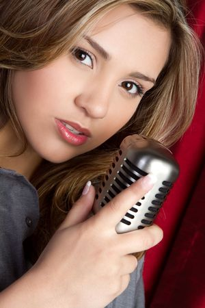 Singing Hispanic Girl Stock Photo - 6763156