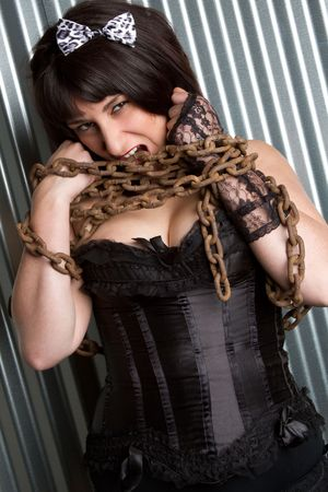 Girl in Chains Stock Photo - 6763166