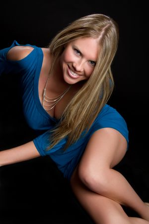 Girl In Blue Dress Stock Photo - 6763169