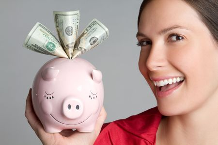 Piggy Bank Girl Stock Photo - 6781792