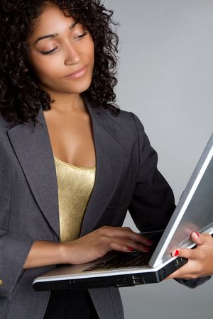 american curl: Woman Holding Laptop