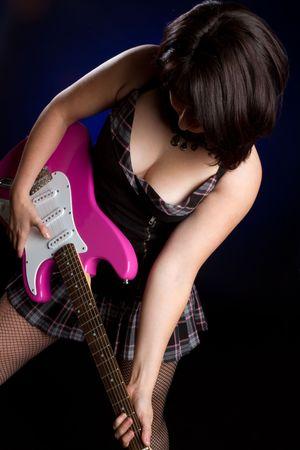 Electric Guitar Girl Stock Photo - 6789599