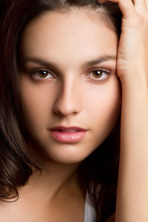 beautiful girl face: Beautiful Young Woman