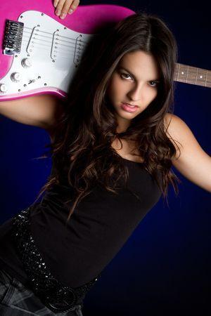 Guitar Girl Stock Photo - 6789600