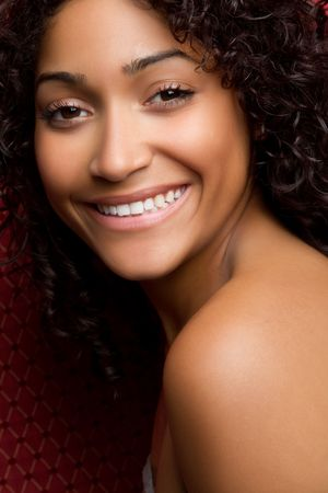Beautiful Black Woman Smiling Stock Photo - 6781798