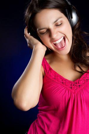 Singing Headphones Girl Stock Photo - 6789607