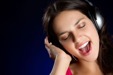 Happy Singing Girl Stock Photo - 6789614