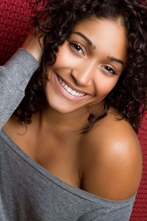 bare women: Beautiful Smiling Black Girl