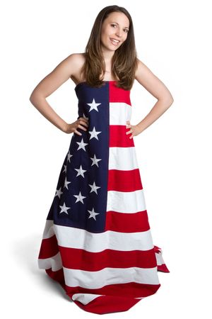 American Dress Woman Stock Photo - 6821868