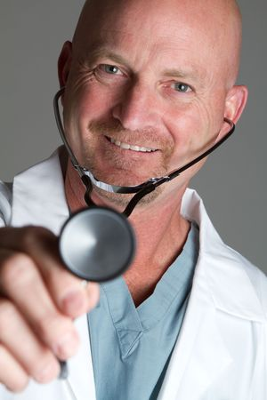 Middle Aged Doctor Stock Photo - 6821877