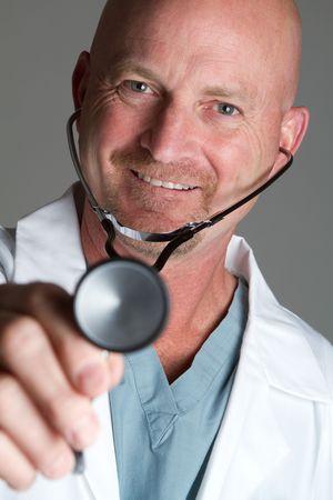 stethoscope boy: Middle Aged Doctor LANG_EVOIMAGES
