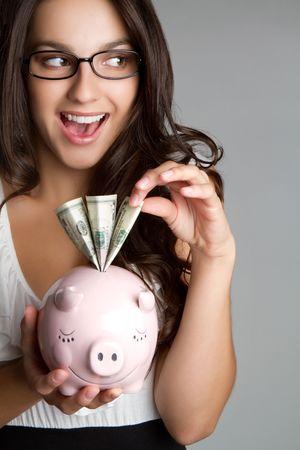 Piggy Bank Girl Stock Photo - 6821874