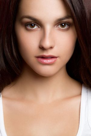mujer: Hermosa mujer de retrato