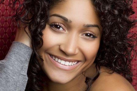 Smiling Black Girl Фото со стока