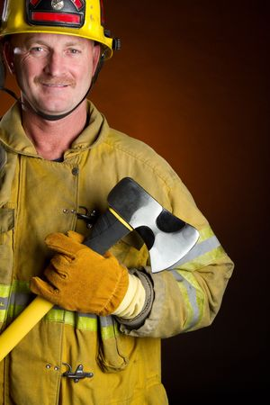 Smiling Fireman Stock Photo - 6829692