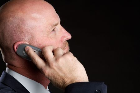 Businessman on Cell Phone Stock Photo - 6829687