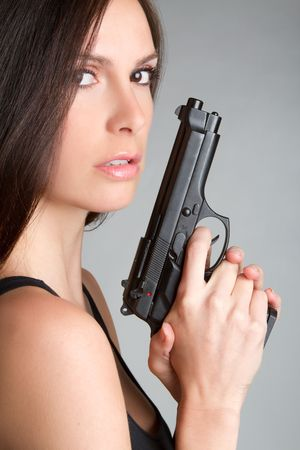 Woman With Handgun Stock Photo - 6829688