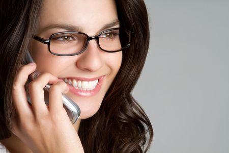 Smiling Phone Girl Stock Photo - 6829696
